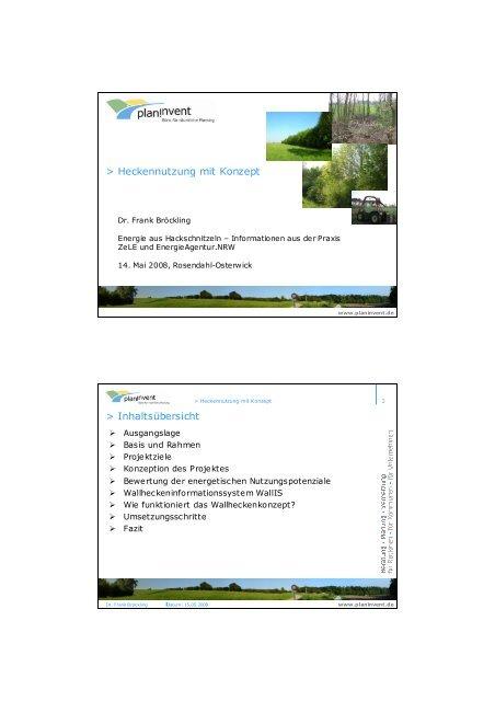 Heckennutzung mit Konzept - NRW spart Energie