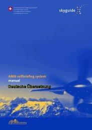 AMIE Selfbriefing-System, Benutzerhandbuch - SkyGuide