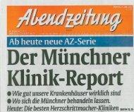 Klinik-Report - Gesundheitsladen München