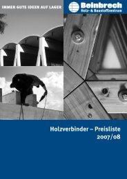 Holzverbinder – Preisliste 2007/08 - Beinbrech