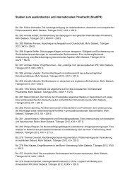 Auflistung aller bisher veröffentlichten Bände in den Studien