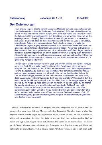 Der Ostermorgen - Vorträge von Reinhart Gruhn