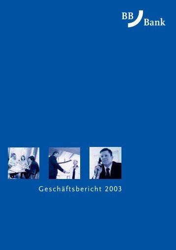 Geschäftsbericht 2003 - Fiducia IT AG