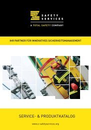 SERVICE- & PRODUKTKATALOG - Z-Safety Services