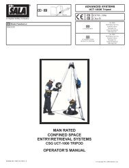man rated confined space entry/retrieval systems csg uct-1000 ...