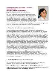 Gedanken zu einer politischen Kultur der Nachhaltigkeit - Ökolog