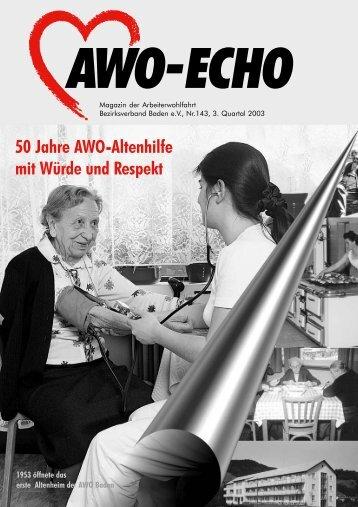 3. Quartal 2003 | Awo-Echo Ausgabe 143 - AWO Baden