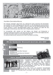 Zeitung 2005 - Musikverein Rainbach