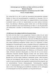 Zum Verhältnis von Staat und Kirche in der Weimarer Republik