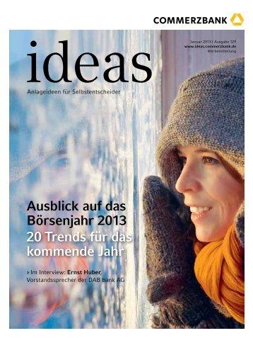 ideas - Commerzbank - Commerzbank AG