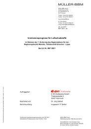 Immissionsprognose für Luftschadstoffe - Metropole Ruhr