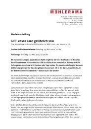 Pressetext - Mühlerama