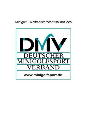 Bisherige Erfolge des DMV bei den Weltmeisterschaften (480MB)