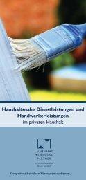 Haushaltsnahe Dienstleistungen - Laufenberg Michels und Partner