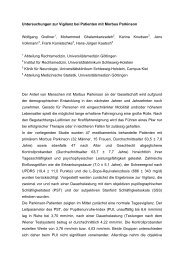 Untersuchungen zur Vigilanz bei Patienten mit Morbus Parkinson ...