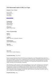 CES Messestand Audi AG 2012, Las Vegas - Der Deutsche ...
