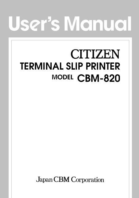 Free Shipping ! CBM-820 Citizen Heavy Duty Receipt DOT Matrix Printer