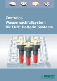 Zentrales Wassernachfüllsystem für FNC® Batterie ... - Hoppecke