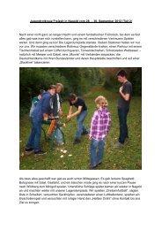 Freizeit vom 28. bis zum 30. September 2012, Teil 2