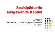 Sozialpädiatrie ausgewählte Kapitel - nextdoc