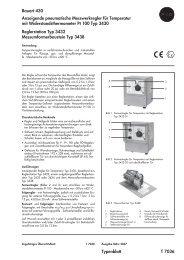 Bauart 430 Anzeigende pneumatische Messwerkregler für ...