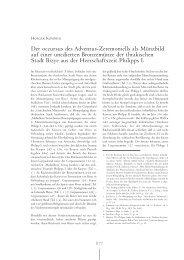 Der occursus des Adventus-Zeremoniells als Münzbild auf einer ...