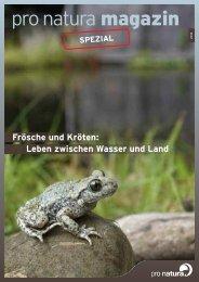Frösche und Kröten - Pro Natura
