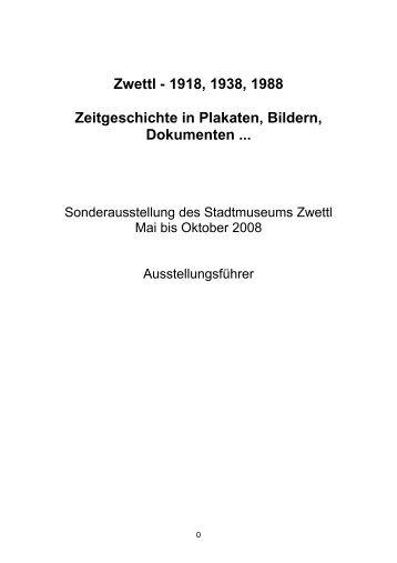 Ausstellungskatalog - Zwettl
