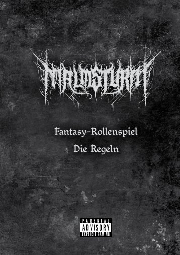 Fantasy-Rollenspiel Die Regeln - Malmsturm