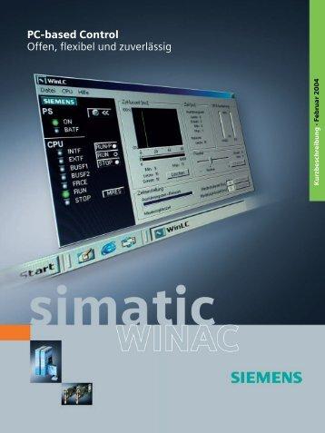SIMATIC WinAC - PC-based Control - Offen, flexibel und zuverlässig