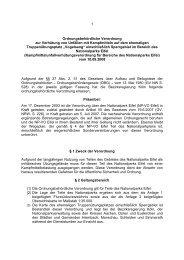 klärt über Gefahren, Gebote und Verbote auf der ... - Nationalpark Eifel