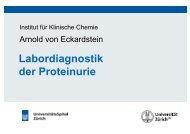 Labordiagnostik der Proteinurie - Institut für Klinische Chemie