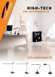 Katalog LED Tischleuchten für den Fachhandel, Stand ... - liteXpress