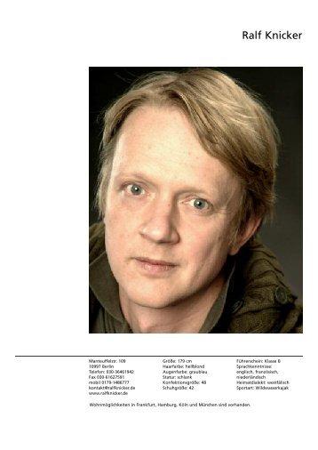 Vita als PDF Download - Schauspieler