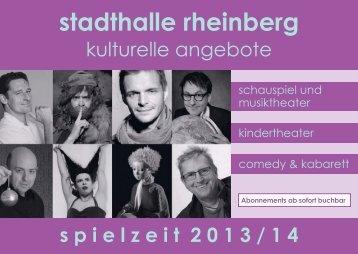 Theaterangebote Spielzeit 2013/2014 - Rheinberg