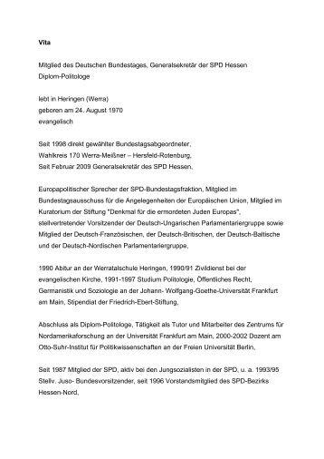 lebenslauf in deutscher sprache - Deutscher Lebenslauf