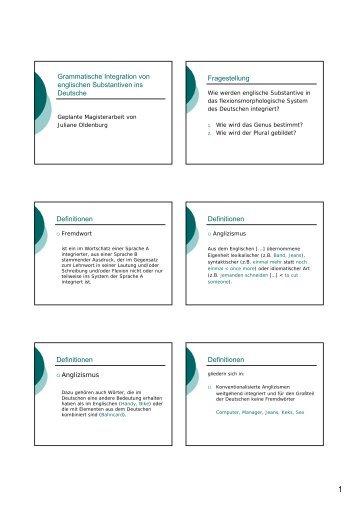 Folien (.pdf) - Institut für deutsche Sprache und Linguistik
