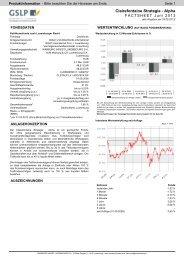 Clairefontaine Strategie - Alpha - Warburg-Fonds