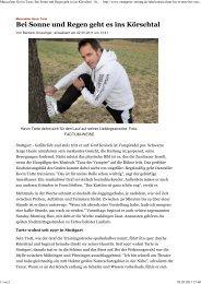 Musicalstar Kevin Tarte Bei Sonne und Regen geht es ins Körschtal ...