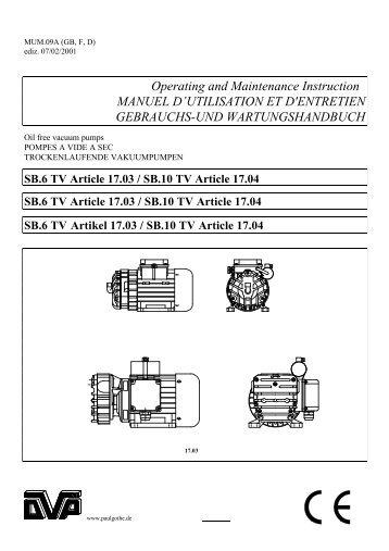 Operating and Maintenance Instruction ... - Paul Gothe GmbH