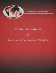 Download Human Cremation Equipment Catalog - B & L Cremation ...