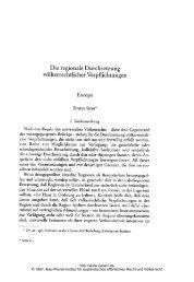 T. Stein: Die regionale Durchsetzung völkerrechtlicher Verpflichtungen