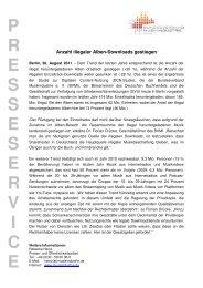 Pressemitteilung - Bundesverband Musikindustrie