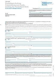 Fondsdepot-Auftrag Freischaltung zum Fonds- banking der ...