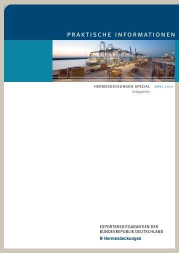 Hermesdeckungen spezial Avalgarantie - AGA-Portal