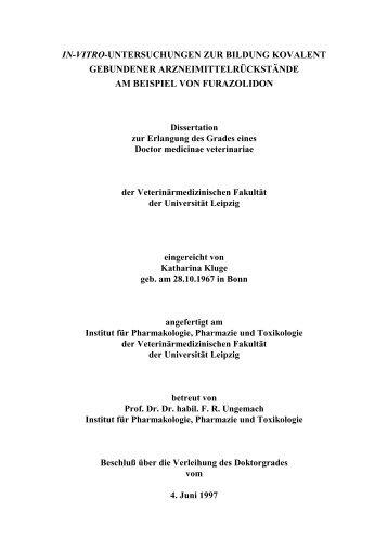 Volltext - Institut für Pharmakologie, Pharmazie und Toxikologie ...