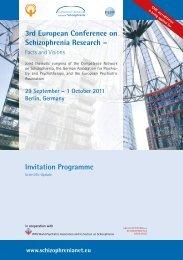 Invitation Programme 3 rd European Conference on Schizophrenia ...