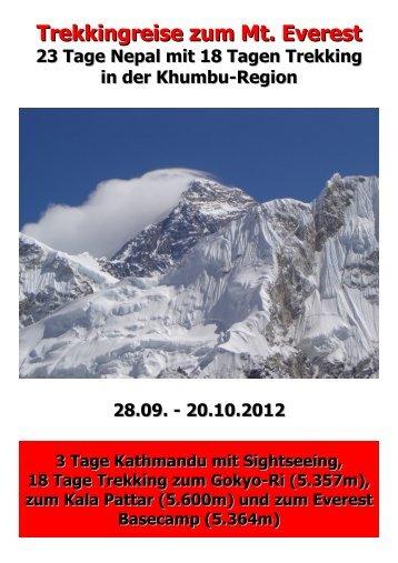 "Flyer ""Trekking-Reise zum Mt. Everest 2012"" - Nordic Fitness ..."