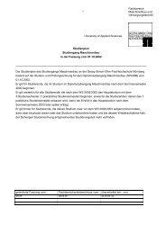 1 Studienplan Studiengang Maschinenbau in der Fassung vom ...