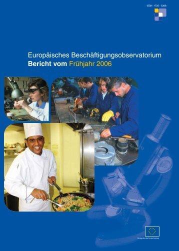 Europäisches Beschäftigungsobservatorium Bericht vom Frühjahr ...